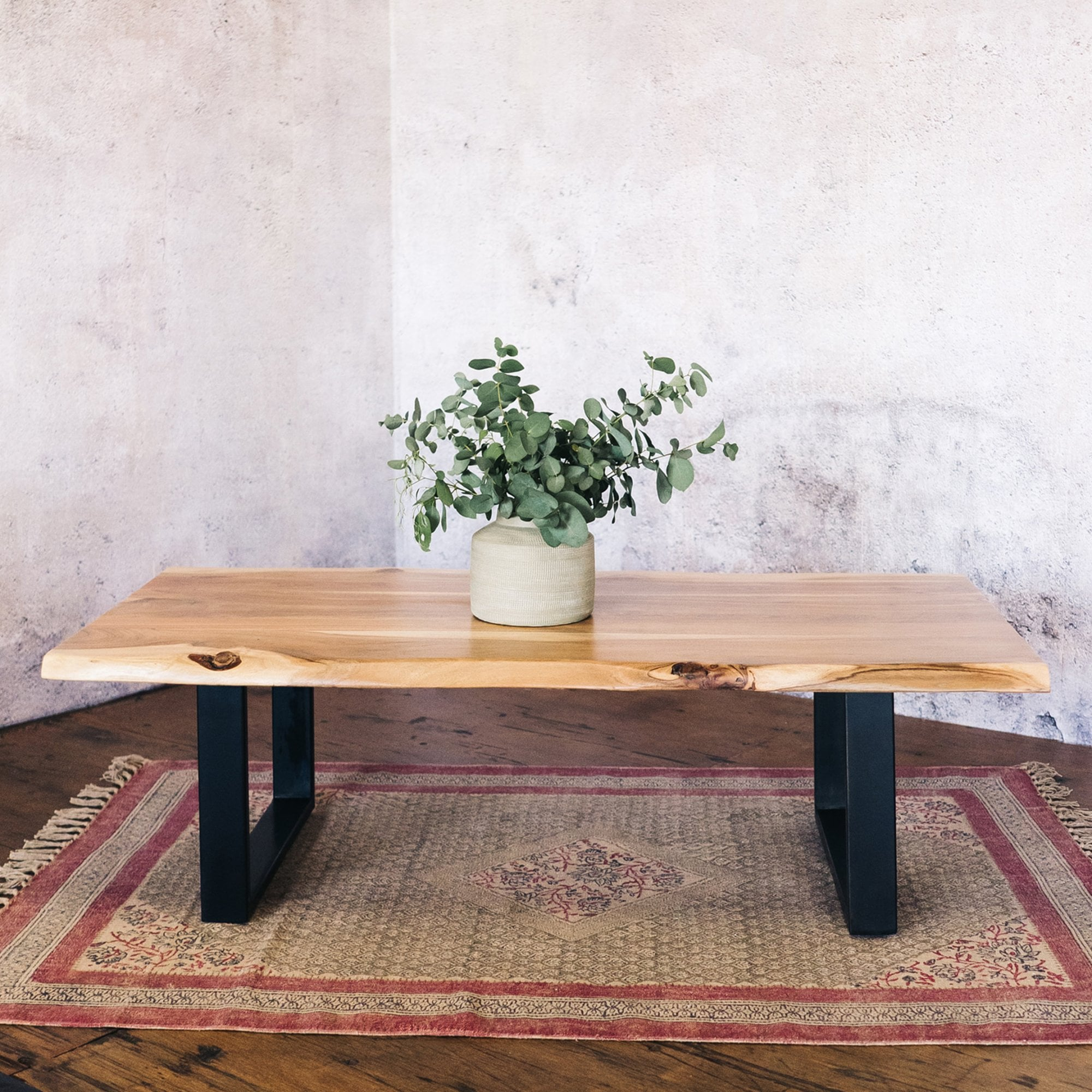 J N Rusticus Corran Solid Live Edge Coffee Table Furniture From