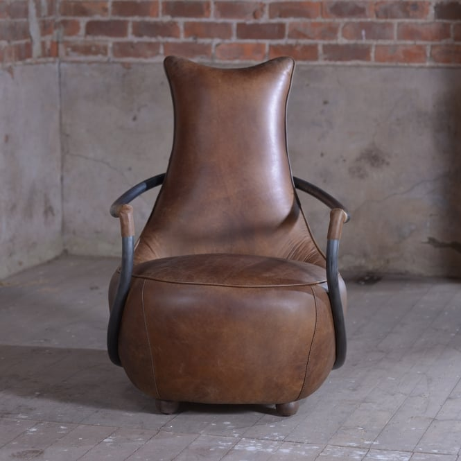 J.N. Rusticus Drava Leather Retro Relax Chair