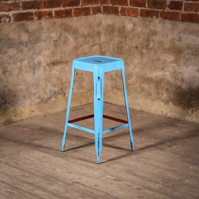 J.N. Rusticus Industrial Distressed Vintage Bar Stool