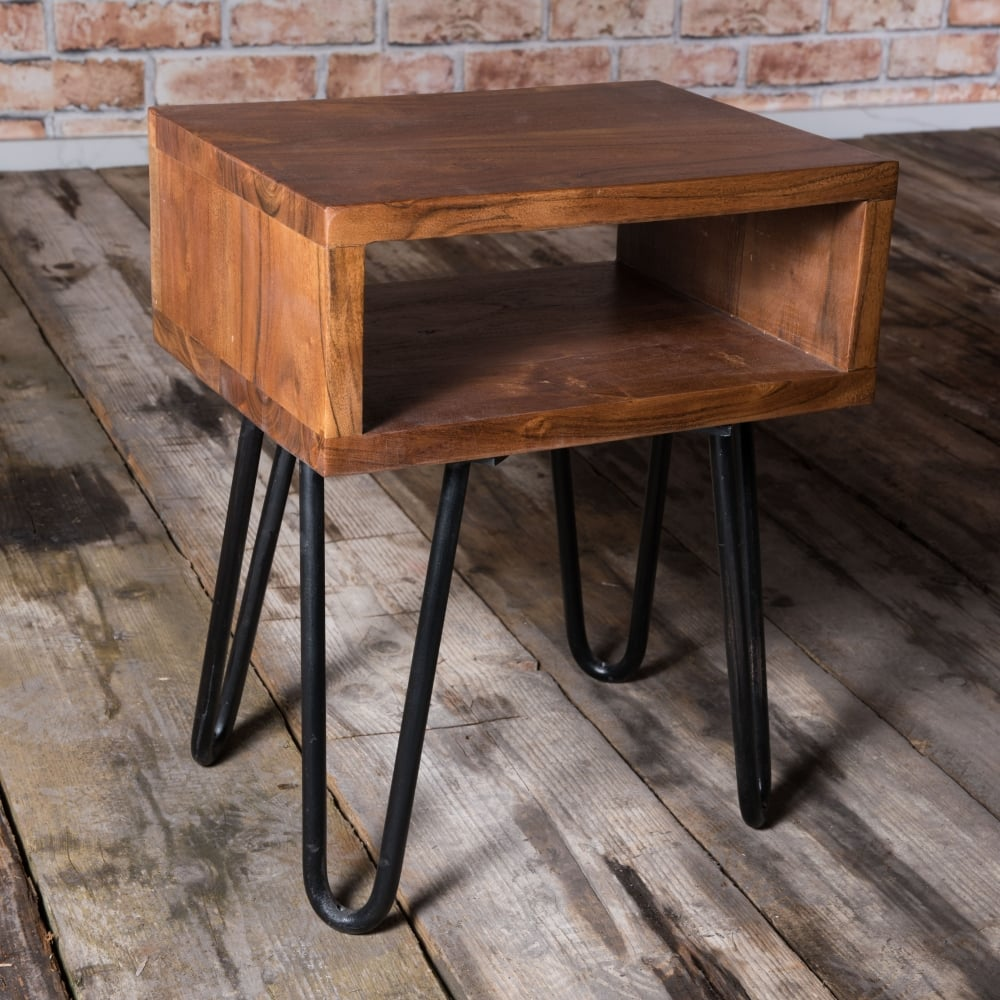 Melrose Hairpin Legged Small Side Table