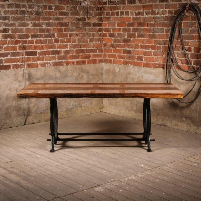 J.N. Rusticus Reclaimed Boat Wooden & Recycled Steel Thetford Dinning Table