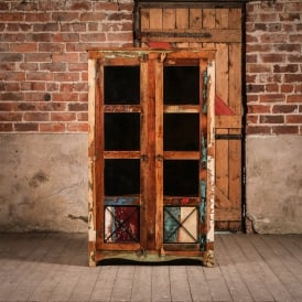 Reclaimed Wooden Axis Cabinet