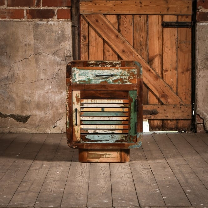 J.N. Rusticus Small Reclaimed Wooden Roe Cabinet