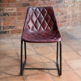 Vintage Leather Metal Gigha Dining Chair