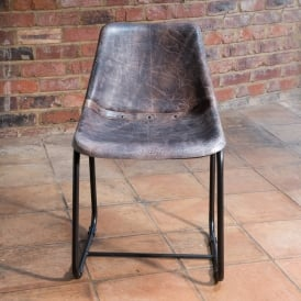 Vintage Leather Metal Islay Dining Chair