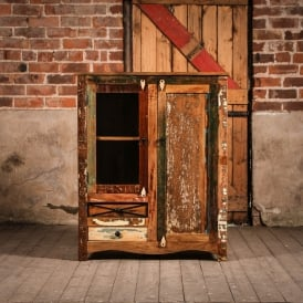 Vintage Reclaimed Wooden Axis Wardrobe