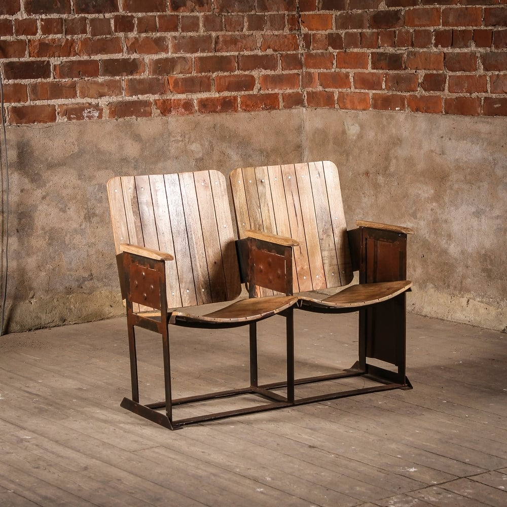 Vintage Wooden Glencoe Cinema Chairs