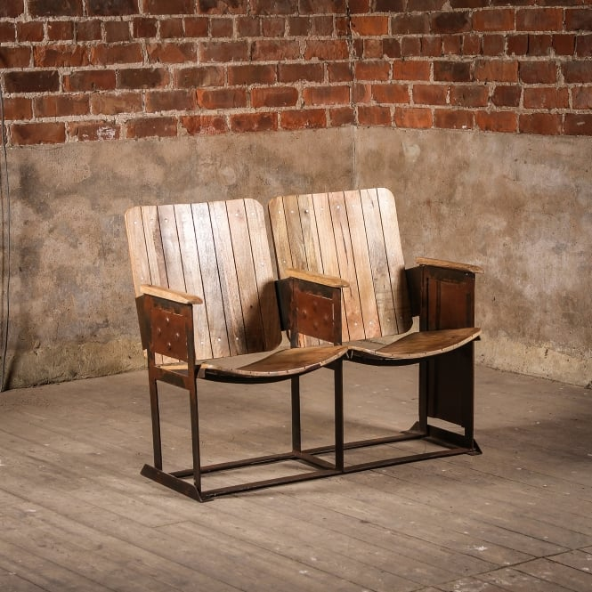 J.N. Rusticus Vintage Wooden Glencoe Cinema Chairs