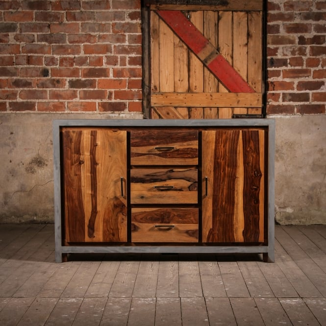 J.N. Rusticus Wooden Concrete Fallow Cabinet