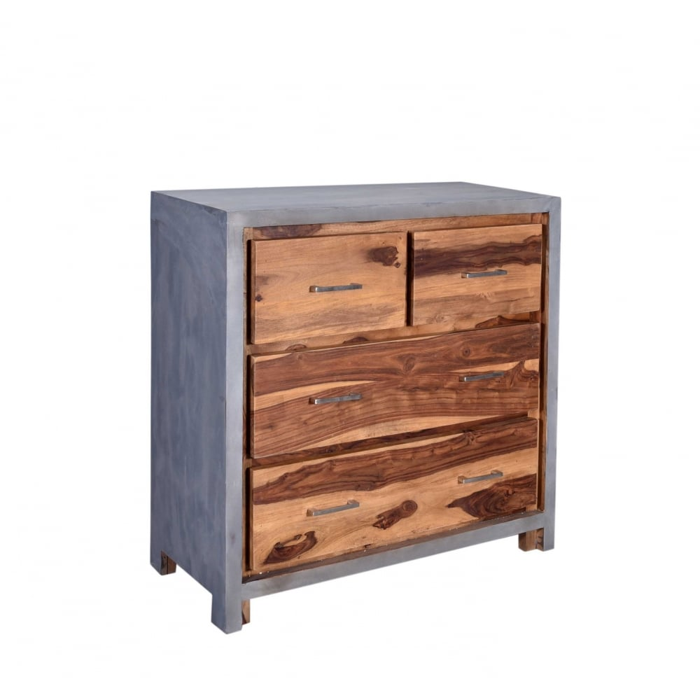 concrete and wood furniture. Wooden Concrete Fallow Drawers And Wood Furniture C