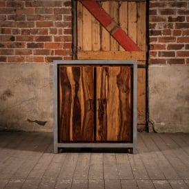 Wooden Concrete Fallow Small Cabinet